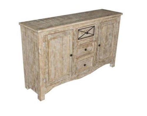 DENNY SIDEBOARD WITH 2 DOORS & 3 DRAWERS   (3-15-1-19-20-1-12) - 900(H) X 1500(W) -  NATURAL