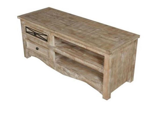 DENNY TV ENTERTAINMENT UNIT WITH 2 DRAWERS    (3-15-1-19-20-1-12) - 500(H) x 1200(W)- NATURAL