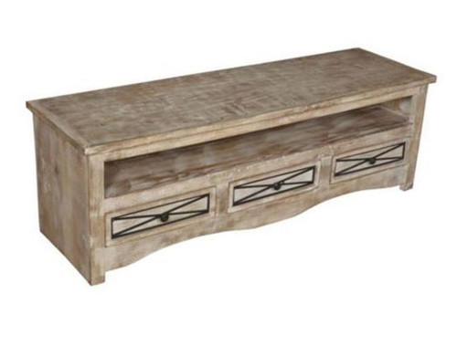 DENNY 1500(W) ENTERTAINMENT UNIT WITH 3 DRAWERS    (3-15-1-19-20-1-12) -500(H) x 1500(W)- NATURAL