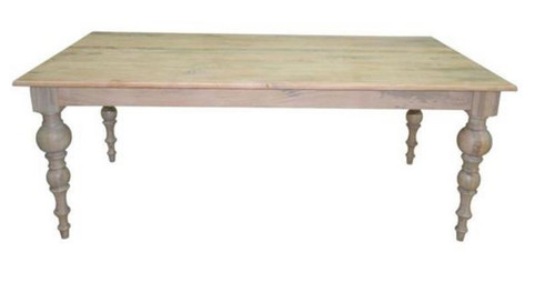 CONSTANCE 1800(L) X 900(W)  RECTANGULAR DINING TABLE - DISTRESSED WHITEWASH