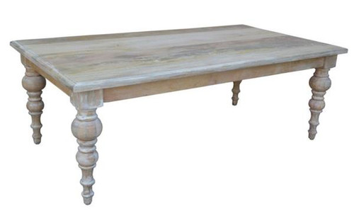 CONSTANCE  COFFEE  TABLE -  1300(W) X 700(D) - DISTRESSED WHITEWASH