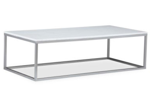 COSIMO COFFEE TABLE - WHITE TOP / STEEL LEG