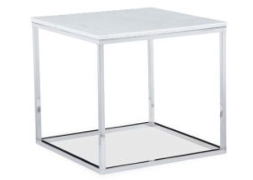 COSIMO END TABLE - MARBLE TOP/STEEL LEG