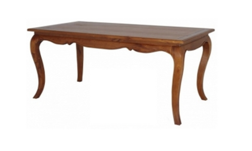 FRENCH PROVINCIAL DINING TABLE 1600(L) X 850(W) - (DT 16085 FP) - LIGHT PECAN