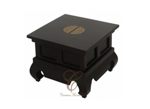 CHINESE  LAMP TABLE  - CHOCOLATE