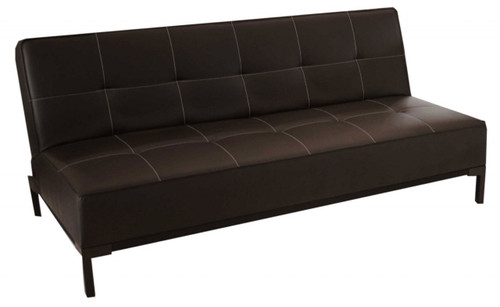 CARL (MODEL NO. 3-15-19-9) CLICK CLACK LEATHERETTE SOFA BED SET (2 X 2 SEATER SOFA BEDS) - BLACK