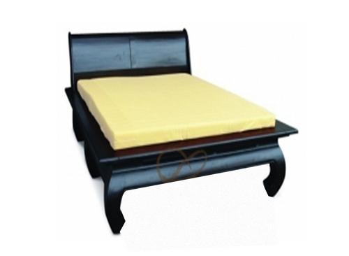 KING SEOUL BED WITH OPIUM LEGS (BS 000 OL KS)  - CHOCOLATE