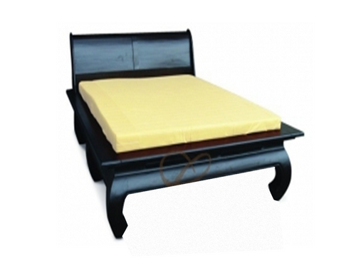 KING SEOUL BED WITH OPIUM LEGS (BS 000 OL KS)  - CHOCOLATE