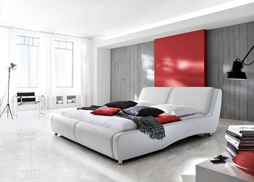 MASSA KING 3 PIECE BEDSIDE BEDROOM SUITE WITH GASLIFT (AND #25 BEDSIDES) - LEATHERETTE - ASSORTED COLOURS