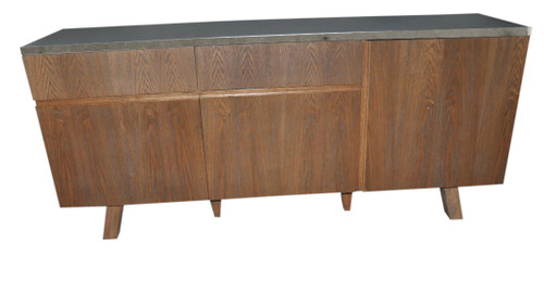 COPACABANA SIDEBOARD  3 DOOR 2 DRAWER -  900(H) X 1800(W) -CONCRETE OR WHITE LAMINATE TOP