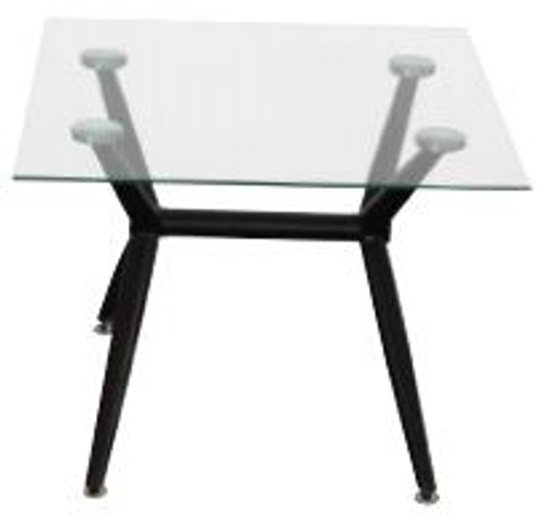 ZETLAND LAMP TABLE TEMPERED METAL/GLASS 600(W) - BLACK GLASS OR CLEAR GLASS