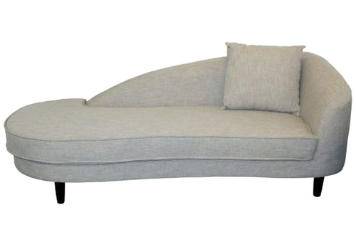 GEORGETTE CHAISE UPHOLSTERED IN LINEN FABRICS - STONE OR LIGHT CHARCOAL