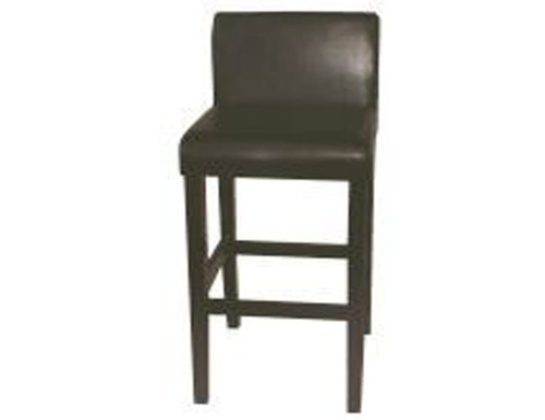 CLAYFORD (1005) BAR STOOL BY - CAST LEATHER - 1400(H)-CHOCOLATE