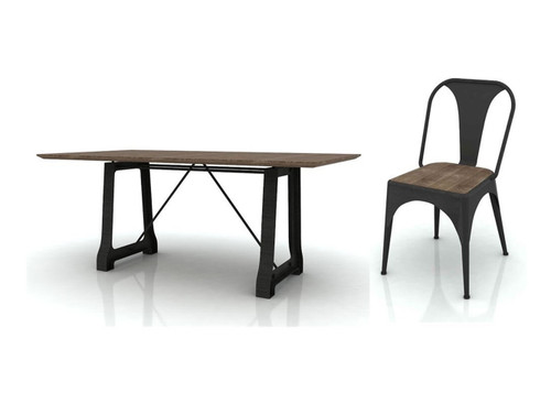CABANA  9 PIECE SETTING  WITH 2100(W) x 1000(D) DINING TABLE - MOCHA GREY / BRUSHED BLACK