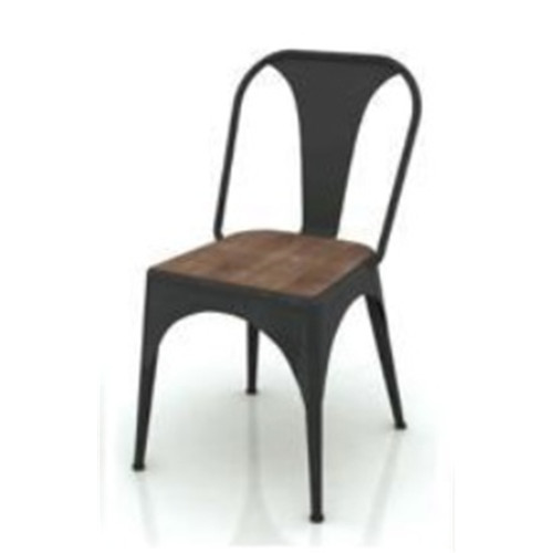 CABANA  DINING CHAIR  - MOCHA GREY / BRUSHED BLACK