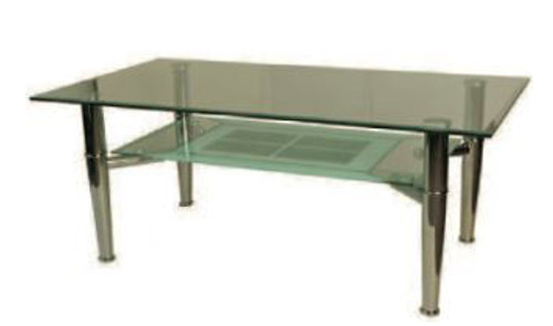 RAINDROP (G017) COFFEE TABLE- 1100(W) X 600(D)- CLEAR
