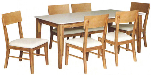 NEVADA  7 PIECE  DINING SETTINGS WITH  1800(L) x 900(W) TABLE - MATTE FINISH
