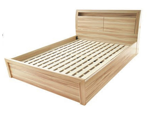 QUEEN VICTORIA BED  - WITH BEDHEAD STORAGE - NAKED CYPRESS