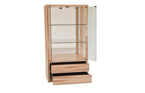 RUTH  DISPLAY CABINET - 1800(H) x 800(W) - NAKED CYPRESS
