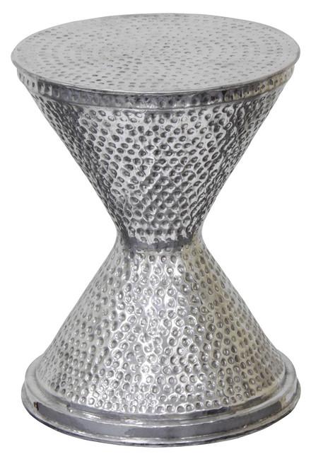 SAM HOURGLASS ALUMINIUM LAMP TABLE 350(W) - SILVER