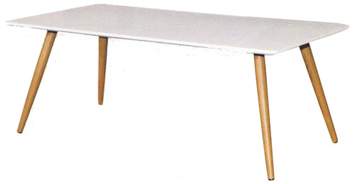 RETRO COFFEE TABLE 1200(W) x 600(D)- MATTE WHITE