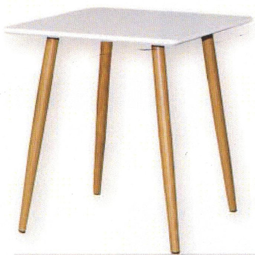 RETRO LAMP TABLE 500(W) X 500(D) - MATTE WHITE