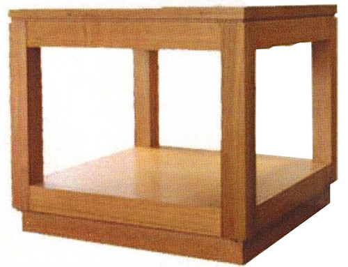 NOVA HARDWOOD LAMP TABLE - 500(W) - COLOUR AS PICTURED