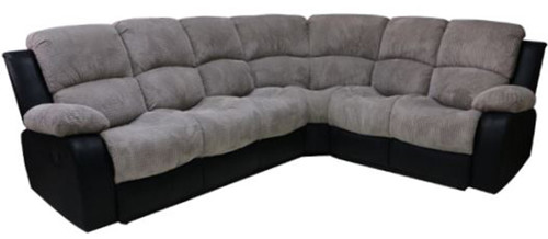ARIZONA CORNER WITH RECLINERS 2R+C+1S+2R - CONWAY GREY OR BLACK B02