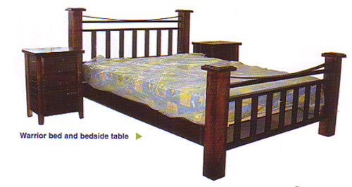 WARRIOR (AUSSIE MADE) DOUBLE OR QUEEN 4 PIECE (TALLBOY) BEDROOM SUITE - ASSORTED COLOURS