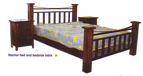 WARRIOR DOUBLE OR QUEEN 4 PIECE TALLBOY BEDROOM SUITE - ASSORTED COLOURS
