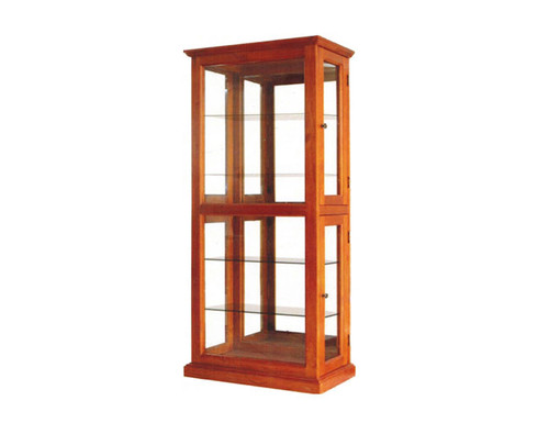GLORIA CRYSTAL DISPLAY CABINET - BLACKWOOD