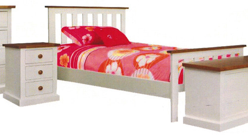 CHESTER  QUEEN 3 PIECE BEDSIDE  BEDROOM SUITE - TWO TONE
