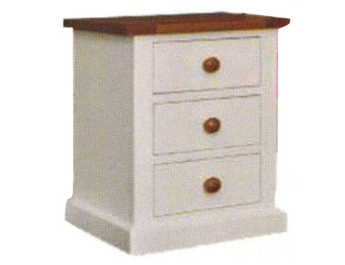 CHESTER BEDSIDE TABLE - TWO TONE