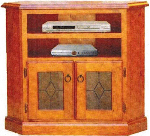 NAPOLI CORNER TV UNIT 680(H) x 900(W) - BLACKWOOD OR WALNUT