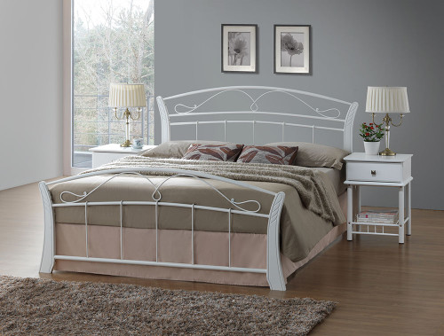 DOUBLE CHESTER BED - WHITE