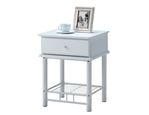 FRANKLIN/CHESTER/CRYSTAL BEDSIDE WITH 1 DRAWER - WHITE