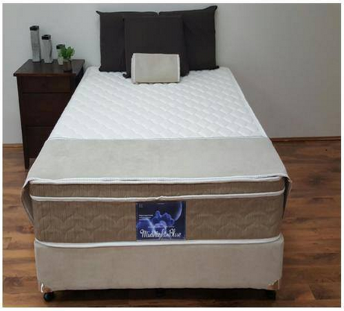 DOUBLE  MIDNIGHT BLUE BONNELL MULTI SPRING MATTRESS  ONLY-