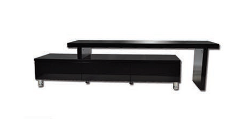 XENA EXTENDABLE ENTERTAINMENT UNIT WITH    DRAWERS  - 305/450(H) X 1640 - 2860(W)- HIGH GLOSS BLACK