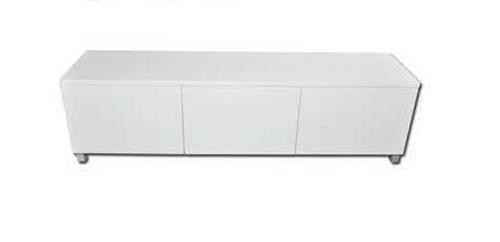HEIDI TV ENTERTAINMENT UNIT - 500(H) x 2000(W) - HIGH GLOSS WHITE
