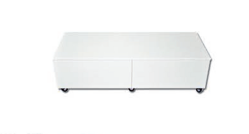 ISABELLA COFFEE TABLE -  1200(W) X 590(D) - HIGH GLOSS WHITE