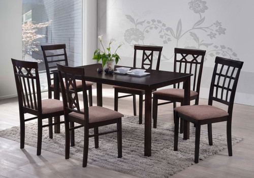 JET / WARM 5 PIECE DINING SETTING (8001) - (SEE ADDITIONAL IMAGE FOR DESIGN OF CHAIR AVAILABLE WITH THIS DINING SETTING) - 1110(L) x 700(W)TABLE - WENGE