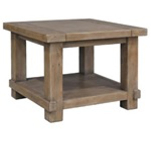 CANYONLEIGH LAMP TABLE - 600(W) RECYCLED PINE - WEATHERED GREY