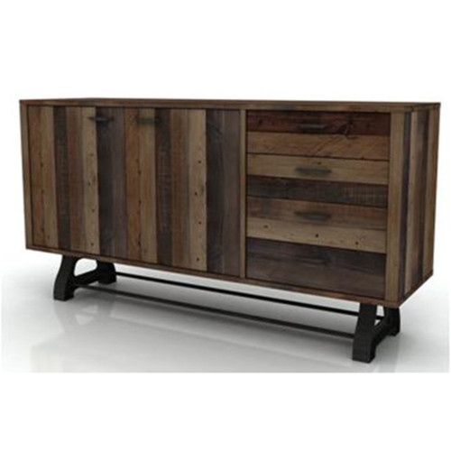 DISTILLERY BUFFET 4 DRAWER 2 DOOR - 860(H) X 1650(W)  - RECYCLED PINE - DRIFTWOOD