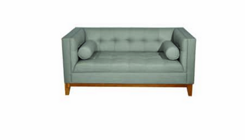 CALVIN TWO (2) SEATER SOFA WITH ARM CUSHIONS - LIGHT GREY