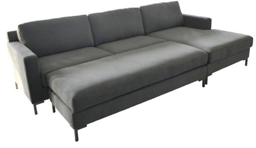 ALEX RHF CHAISE 2 SEATER WITH OTTOMAN - ASSORTED COLOURS