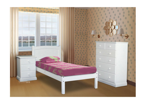 SINGLE MUDGEE (AUSSIE MADE) PANEL BED - 1200(H) - ASSORTED PAINTED COLOURS
