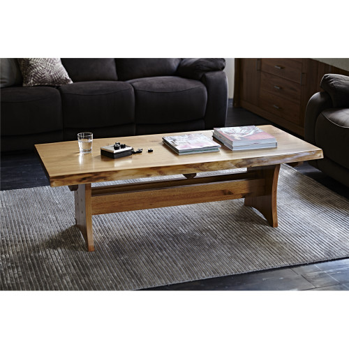 ARGYLE  HARDWOOD  COFFEE TABLE-  1400(W) X 700(D) - NATURAL FINISH