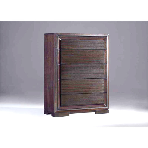 ATLANTIC 5 DRAWER TALLBOY -1296(H) X 965(W) - BRUSHED TRUFFLE