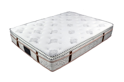KING PREMIUM POCKET SPRING MATTRESS WITH EURO PILLOW TOP - PLUSH SOFT