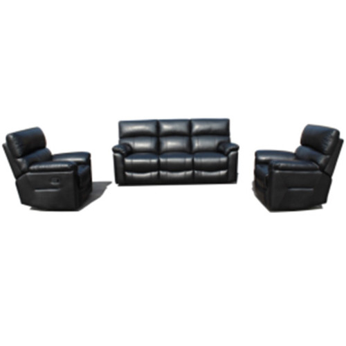 LIVERPOOL  3 SEATER WITH 2R + 1 R+ 1 R – PLUSH AIR FABRIC – BLACK